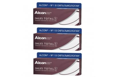 Dailies Total 1 (30 шт), 3 упаковки по цене 2