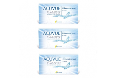 Acuvue OASYS with Hydraclear Plus (6 шт), 3 упаковки