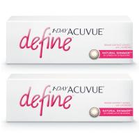 1-Day Acuvue Define Естественное сияние (30 шт), 2 упаковки