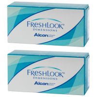 Линзы Freshlook Dimensions без диоптрий (2 шт), 2 упаковки