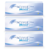 1-Day Acuvue Moist (30 линз), 3 упаковки