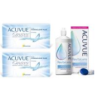 Acuvue OASYS with Hydraclear Plus (6 линз), 2 упаковки с раствором ACUVUE RevitaLens (300 мл)