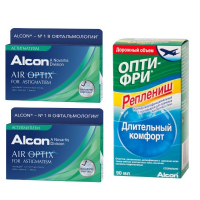 Air Optix for Astigmatism (3 шт), 2 упаковки