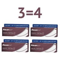 Dailies Total 1 (30 линз), 4 упаковки (3+1)