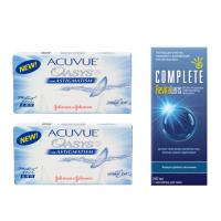 Acuvue Oasys for Astigmatism (6 линз), 2 уп. с раствором COMPLETE RevitaLens (240 мл)