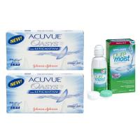 Acuvue Oasys for Astigmatism (6 линз), 2 уп. с раствором Opti-Free Puremoist (300 мл)
