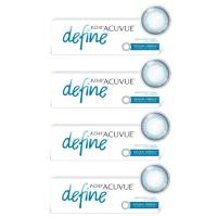 1-Day Acuvue Define Естественный блеск (30 шт), 4 упаковки