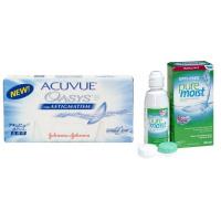 Acuvue Oasys for Astigmatism (6 линз) с раствором Opti-Free Puremoist (300 мл) + 2 раствора в подарок
