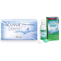 Acuvue OASYS with Hydraclear Plus (6 линз) с раствором Opti-Free Puremoist (300 мл)