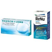 Bausch+Lomb ULTRA (3 линзы) с каплями Renu