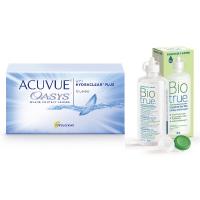Acuvue Oasys (12 шт) с раствором Biotrue (300 мл)