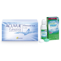 Acuvue OASYS with Hydraclear Plus (12 линз) с раствором Opti-Free Puremoist (300 мл)
