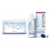 Acuvue Oasys for Astigmatism (6 линз) с раствором Acuvue RevitaLens (300 мл)
